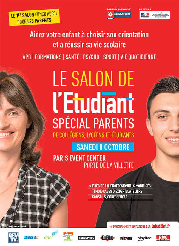 Salon de l tudiant sp cial parents porte de la villette for Salon yoga porte de la villette