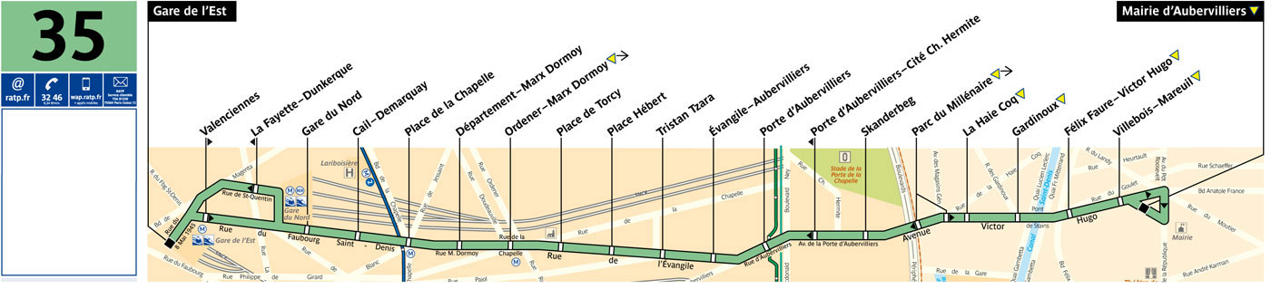 Bus tramway ville d 39 aubervilliers - Porte d aubervilliers plan ...